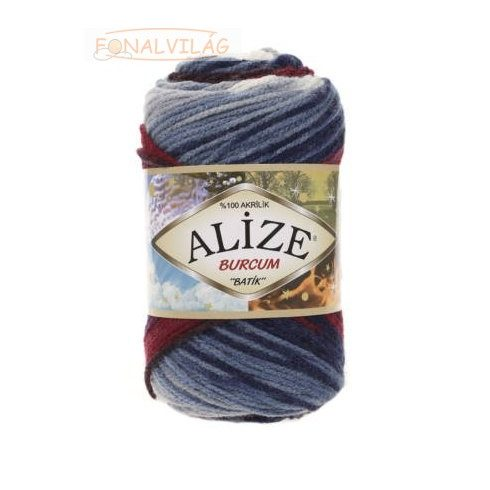 Alize BURCUM BATIK -Bordó-kék-krém melír