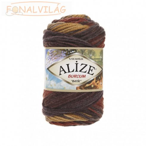 Alize BURCUM BATIK -Mustár-rozsdabarna melír