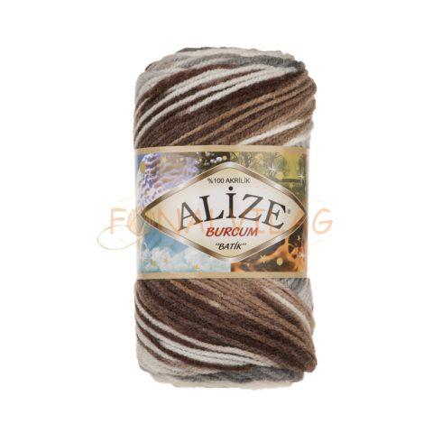Alize BURCUM BATIK -  Fehér,barna,szürke melír