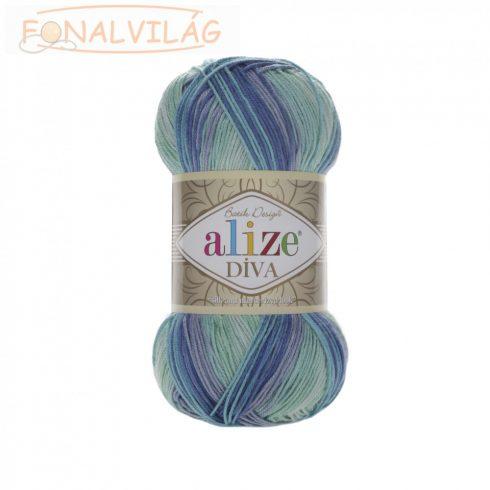 Alize DÍVA BATIK - Kék-zöld melír