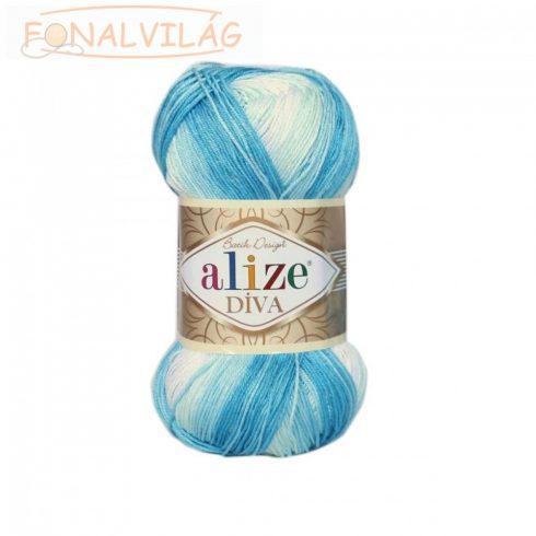 Alize DÍVA BATIK - Kék-világos kék-fehér melír