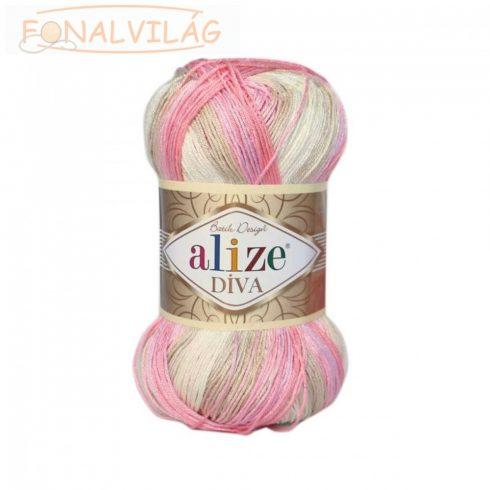 Alize DÍVA BATIK - Rózsaszín-drapp-fehér melír
