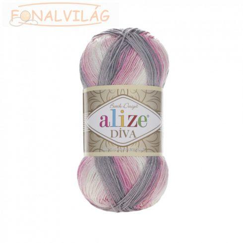 Alize DÍVA BATIK - Fehér-rózsaszín-barna melír