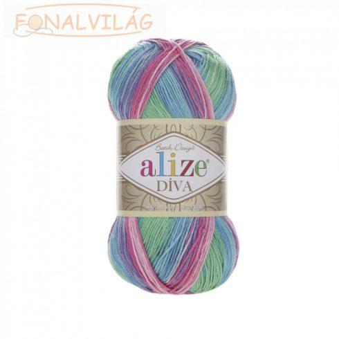 Alize DÍVA BATIK - Kék-zöld-lila-rózsaszín melír