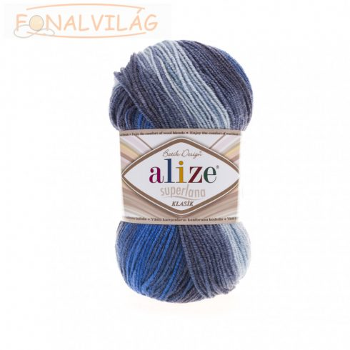 Superlana Klasik BATIK - Szürke-kék melír