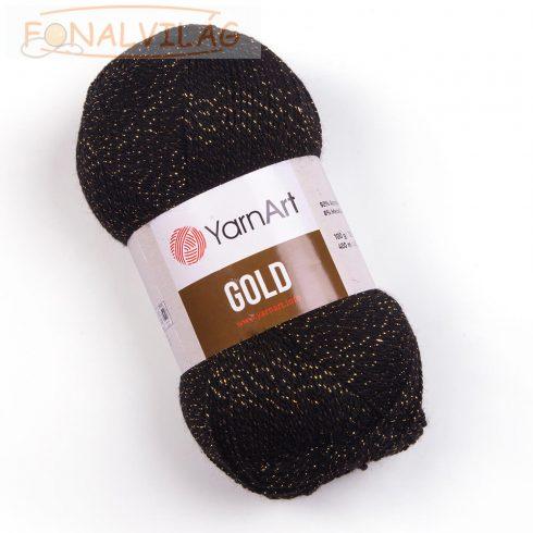 YarnArt Gold-Fekete arany szállal szőve