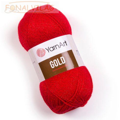 YarnArt Gold-Piros fém szállal