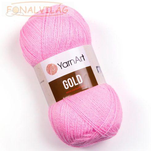 YarnArt Gold- Rózsaszín fém szállal