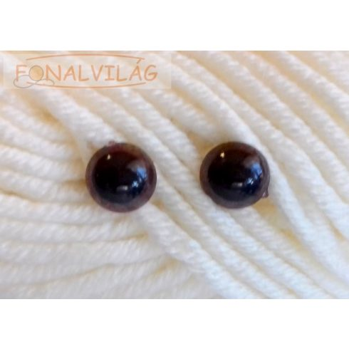 Biztonsági szem, barna pupillás 12mm - 5pár/csomag