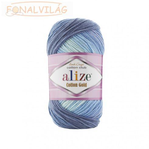 Alize COTTON GOLD BATIK - Kék melír