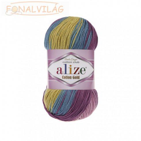 Alize COTTON GOLD BATIK - Rózsaszín-sárga-kék melír