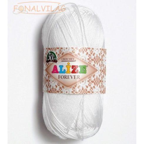 Alize FOREVER  horgoló és kötőfonal - Fehér