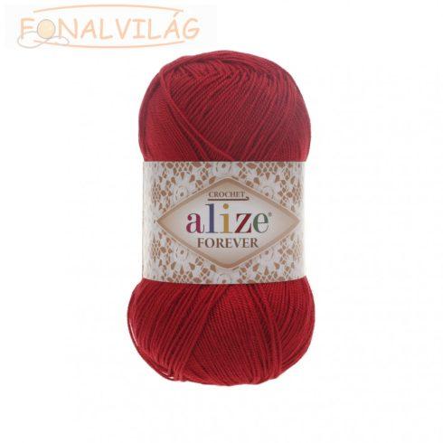 Alize FOREVER  horgoló és kötőfonal - Piros