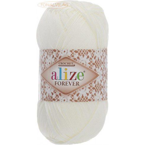 Alize FOREVER  horgoló és kötőfonal - Tört fehér