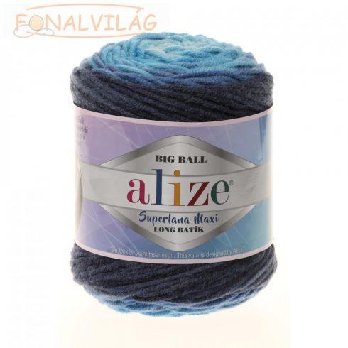 Superlana Maxi Long Batik - Világoskék-kék-sötétkék