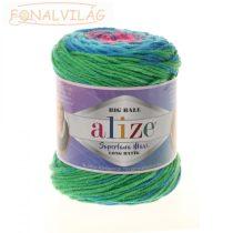 Superlana Maxi Long Batik - Rózsaszín-kék-zöld